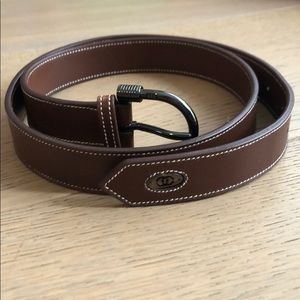 Authentic Gucci brown leather belt